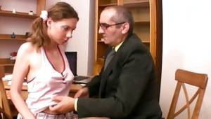 Hairy fantastic hoe is getting her allured by the horrible nasty gent