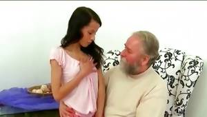 Senior man is pounding a cockpit of a toddler lascivious belle with a nice human