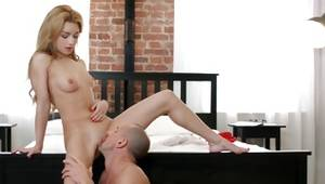 Blonde engaging whorish slut is drilled