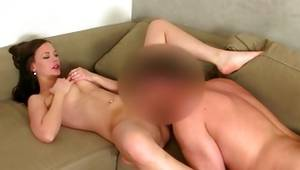 Exciting bitchy slut is sucking the sausage