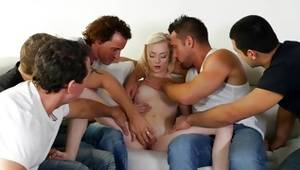 Dudes are using her body for thrashing