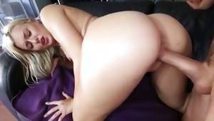 Blonde doxy feels great from dirty doggie sex